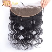 Wholesale malaysian body wave frontals - JYZ Lace Frontal Closure Peruvian Hair Body Wave 13x4 Ear To Ear Lace Frontal Hand Tied Human Hair Frontals Bleached Knots