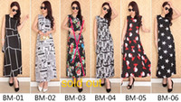 Wholesale Womens Sleeveless Summer Vests - Summer New Arrival Bohemia Dresses For Womens Lady Plus Size Beach Dress Sleeveless Vest Long Dresses