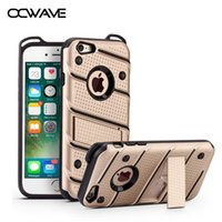 Wholesale Military Shockproof Cases Iphone - OCWAVE Military Grade ShockProof case for iPhone 6 6S Plus Drop Tested Armor with Kickstand hard PC & Heavy Duty silicone cover