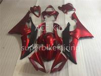 enjeksiyon kalıbı motosiklet parkur kiti toptan satış-Enjeksiyon kalıp Yamaha YZF-R6 YZF600 R6 Için Yeni Fairings 08 15 R6 2008-2015 ABS Plastik Karoser Motosiklet Kaporta Kiti Kırmızı aq