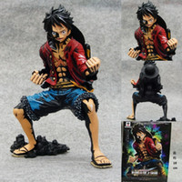 Originl 20cm Luffy New Pvc Action Figuras Anime Novo 1pcs 18cm One Piece Black Monkey D Luffy Figura de ação Brinquedos Brinquedo de Natal