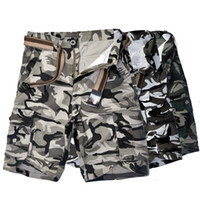 Wholesale Military Apparel - camo printed cargo shorts men's military loose thigh shorts summer beach shorts men's casual apparel