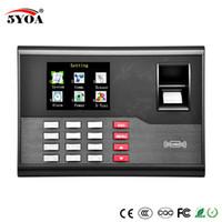 Wholesale Fingerprint Time Card Usb - Biometric Fingerprint Time Attendance Clock Recorder Employee Digital Electronic English Reader Machine USB RFID ID Card