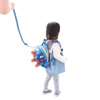 Wholesale SUNVENO Cute Cartoon Toddler Baby Harness Backpack Leash Safety Anti lost Backpack Strap Walker Dinosaur Backpack