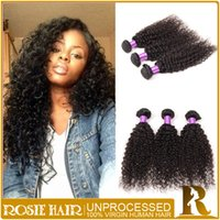 Where to buy cheap weave hair extensions can dyed online buy unprocessed human hair extensions 4pcs cheap peruvian kinky curly hair bundles double weft hair products color1b can be dyed free shipping in bulk pmusecretfo Images