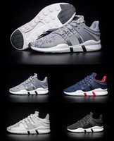 Wholesale Shoes Skateboarding Casual - High quality EQT Support ADV Boost Mens Running Shoes Black white blue GS Primeknit grey Core Sneakers Sports Shoe casual shoes eur 40-45