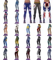 Wholesale Digital Printed Galaxy - New Women 3D Printed Leggings Gym Yoga Jogging Pants Fitness Football Team Trousers galaxy milk legging digital free shipping Hot Sale