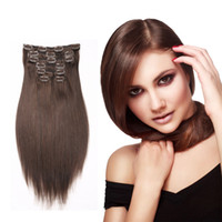 Best Selling Grade 8A Straight Brazilian Virgin Clip In / On Extensões de cabelo humano 10pieces 22clips Blonde 16