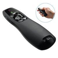 drahtlose usb-fernlaservorlage großhandel-Wireless Presenter R400 2.4GHz Fernbedienung Präsentation Clicker 5mW Red Laser Pointer Flip Stift mit USB-Empfänger