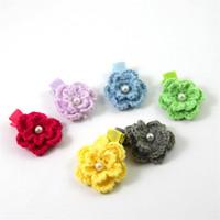 saç taç yaprakları toptan satış-Yeni Bebek Saç Klipleri Beş petal çiçek şekli Çocuk Tokalar 30 adet / grup Sevimli Çocuklar Saç Klipler Mini Beş petal çiçek Tokalar