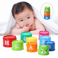 Vente en gros - Baby Math Toy Stacking Pile Up Tower Count Cups Numéro de compte Letter Toy Toy Math FCI #