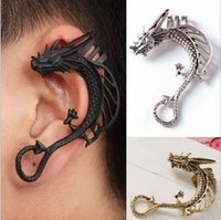 Punk Style Dragon Ear Punles Gothic Antique Argent / Or / Noir No Piercing Ear Clips Bijoux Fashion Fashion