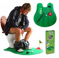 56lot 6pcs / lot EMS Mini toilettes de toilette de toilette de salle de bain Set Set Perfect Putting Game Potty Putter Golf Trainer Jouet de décompression de jeu amusant