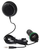 nfc ses alıcısı toptan satış-NFC Bluetooth V4.0 Araç Kiti Ses AUX Alıcısı Eller Serbest Arama Çift USB Şarj Dahili Mikrofon