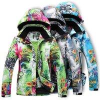 Wholesale Solomon Women - Wholesale- Free shipping 2017 winter Solomon Camping Hiking skiing Women ski jacket Sportswear Hooded Waterproof Outerwear,snowboard jacket