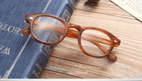 Wholesale Brand New Rims - New hot-sale brand designer Moscot glasses frame Retro-vintage quality Pure-Plank full-rim fashion sunglasses with L size M size S size