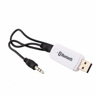 usb-lautsprecher-buchsen großhandel-2 teile / los USB Drahtlose Bluetooth Musik Audio Receiver Dongle Adapter 3,5mm Jack Audio Kabel für Aux Auto Verwenden für Iphone Samsung lautsprecher mp3