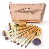 Wholesale bamboo brushes for hair for sale - Group buy Makeup Brushes Set Cosmetics Foundation Bamboo Make Up Brush Tools Kit For Powder Blusher Eye Shadow Eyeliner