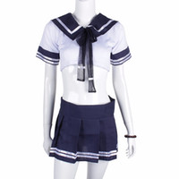 Wholesale Hot Sexy Women Underwear Temptation - Wholesale- Sexy Underwear Women Sexy Uniform Temptation Student Uniform OutfitTop+ Skirt new fashion sexy cosplay lingerie uniform hot sale