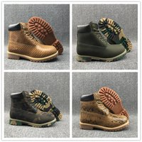 Wholesale Plus Size High Heels Boots - 2016 Hot Sale Boots Classic High Ankle Women Mens Wheat yellow serpentine camouflage classic rhubarb boots plus velvet Size 40-45
