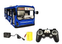 Wholesale Remote Control Bus Toys - Wholesale-2.4GHz RC remote bus charging dynamic super remote control simulation toy bus children senior gift