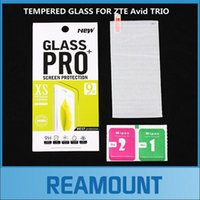 Wholesale glossy screen guard resale online - 200 High Quality H Hard Tempered Glass for ZTE Avid TRIO Screen Protector Protective Film Front Safety Guard Films