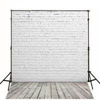 Wholesale Wall Background For Photography - 5x7ft White Brick Wall Backgrounds for Photo Studio Fundo Fotografico Newborn Tecido Wood Floor Vinyl Backdrop Photography