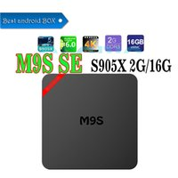 M9S SE Android box Amlogic S905X Android 6.0 KD 16.1 completamente caricato 2GB DDR3 RAM 16GB emmc Flash Miracast Google Streaming Media Player
