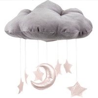 Wholesale Pictures Clouds - INS baby room decoration 3D clouds Star Baby crib accessories Take pictures of the scene Props newborn bed Ornaments