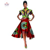 Wholesale Tutu Skirt Unique - African Women Clothing High Waist Skirt Private Custom Africa Skirts Women Unique Original Tutu Skirt Women Free Shipping WY112