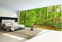 waldwand kulisse groihandel-Waldweg Landschaft High - Definition Hintergrund Wandbild 3D wallpaper 3d Tapeten für TV Hintergrund