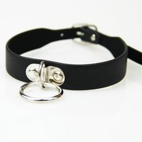 Wholesale Collar S For Adults - S M adult game Leather Bondage collar to restraint Slave harness bondage Adult fetish product Sex Toys for women Couples