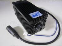 Wholesale High Powered Laser 445nm - Wholesale-Popular DIY CNC 2800mw 2.8w 445nm 450nm Focus blue Laser Module TTL tube High Power laser Engraving Adjust Free glasses