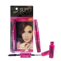 Wholesale Mascara 4d - Mistine SUPER MODEL MIRACLE LASH MASCARA 4D extension mascara Lash fibers maximum fast lash extensions 5.5g New