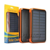 Wholesale External Backup Battery Charger Light - Solar Power Bank Solar Charger 6000mAh External Backup Battery Pack Dual USB Solar Panel Charger with LED Light Portable in Retail Package