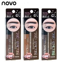 Eye Brow Tattoo Tint Wasserdichte lang anhaltende Peel off Dye Augenbraue Gel Creme Wimperntusche Make Up Pen Korean Kosmetik NOVO Augen Make-up 50pcs