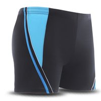 Wholesale Boy Boxer Shorts Large - Wholesale- Retail Male Swimwear Patchwork Swimming Trunks Sexy Swimmsuit Men 2016 Boy Boxer Shorts zwembroek man Large Size XL,XXL,3XL,4XL