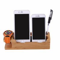 Wholesale Station For Iphone 4s - New Charging Dock Station Mobile Phone Holder Stand For iPhone 7 7 Plus 6 6S Plus 5 5s SE 4s 4 For iWatch Cellphone Holder Stand