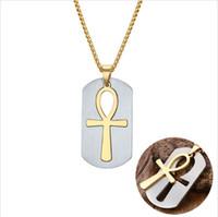 ingrosso gioielli simbolo ankh-Ankh Removable Cross NecklacePendants Egyptian Men Jewelry Il simbolo della vita Croce gioielli PN-623