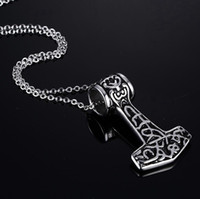 Pendant Necklaces carving axe - Hot Sale Fashion Domineering Men s Stainless Steel Axe Carving Pendant Retro Punk Style Jewelry Necklace Pendant MM