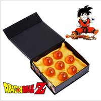Wholesale Eco Z - 7Pcs Dragon Ball Crystal Balls 4.3Cm Set Z Figura 3D Star Super Big Resin Ball High Quality Goku Collect