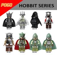 Wholesale Battle Figures - 120pcs Mix Lot Hobbit Series Minifig Witch-King Battle Mouth of Sauron Uruk-hai PG8036 Mini Building Blocks Figures