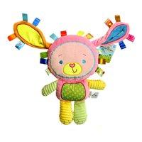 Wholesale Toys Bibi - Wholesale- Happy Monkey 0-3 Years Infant Soft Appease Animal Playmate Calm Dolls Baby Toys BiBi Ring Rattles Inside (Rabbit)