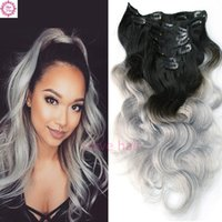 Wholesale Extension Clip Ombre - 120g Weft Body Wave Clip In Hair Extensions Human Virgin Brazilian Hair Clip In Human Hair Extensions Slove Products