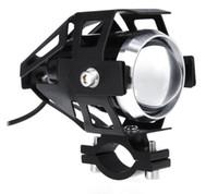 farol de motocicleta liderado por u5 venda por atacado-Frete Grátis Motocicleta LED Farol de Alta Potência 125 W À Prova D 'Água 3000LM U5 Moto Condução Nevoeiro Spot Light Head Lamp