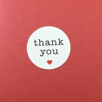 "Wholesale wedding thank stickers - Wholesale-Free Shipping 600PCS Lot ""THANK YOU"" Within Red Heart for kids Home Label Stickers Seal On laptop Gift  Wedding Label Jewelry"