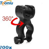 Wholesale Universal Swivel Clamp - High Quality led bicycle lights Torch holder Clip Clamp Universal 360 Swivel for Bicycle Bike LED Flashlight Mount Bracket Holder