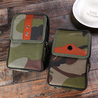 Wholesale Men S Military Bags - Men 's leisure multi - functional military fans camouflage pockets outdoor sports climbing pockets mobile phone bag