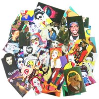 Wholesale Waterproof Film For Laptops - 54 PCS Sexy and Vulgar Stickers For Motorcycle Bike Laptop Skateboard Car Styling Phone Doodle Cool Sticker PVC Waterproof Decal