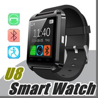 50X Bluetooth Smartwatch U8 U Uhr Smart Watch Armbanduhren für iPhone 4 4S 5 5S Samsung S4 S5 S7 S8 Hinweis 7 8 HTC Android Phone Smart A-BS